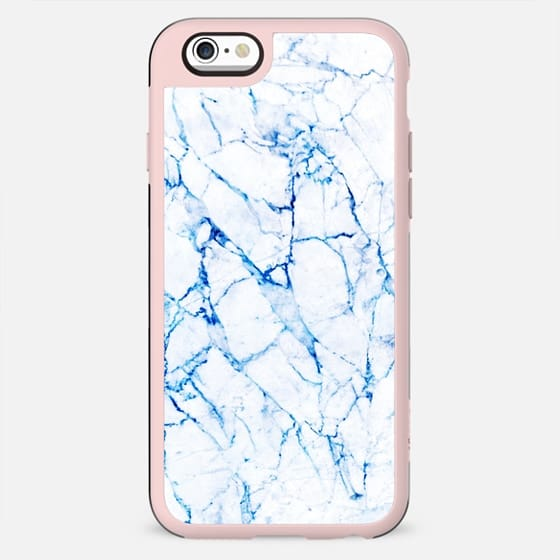 Blue thin marble lines - New Standard Case
