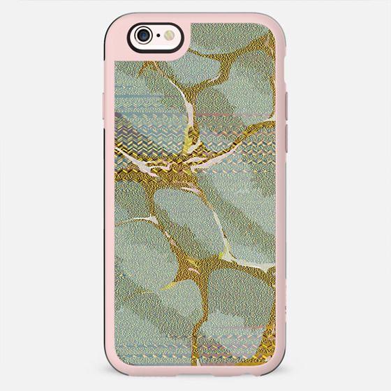 Glitter gold pastel green marble - New Standard Case