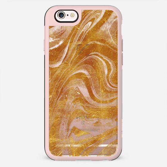 Transparent golden marble lines