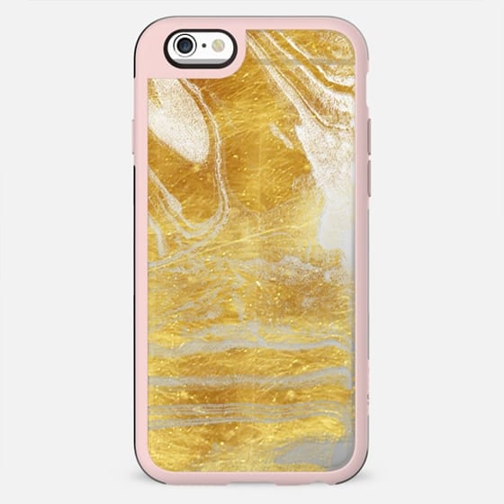 Golden marble textured lines - New Standard Case