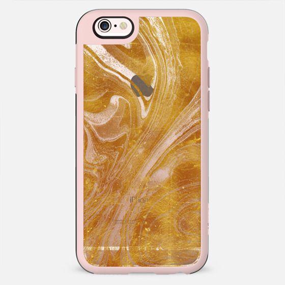 Golden marble transparent lines - New Standard Case