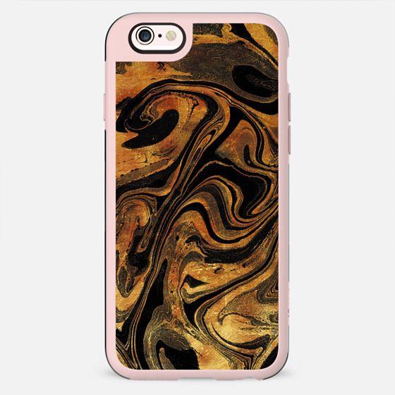 Dark golden foil marble