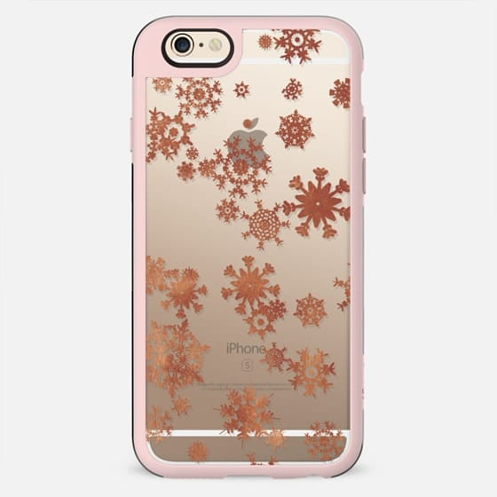 Winter golden snowflakes clear case - New Standard Case