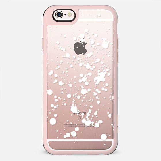 White snow clear splatter - New Standard Case