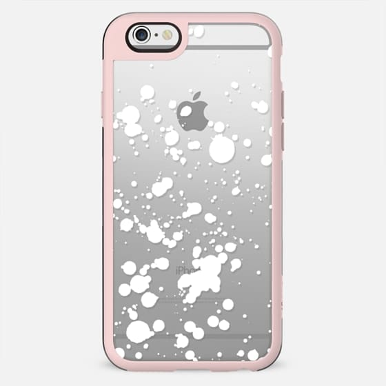 White snow splatter clear case - New Standard Case