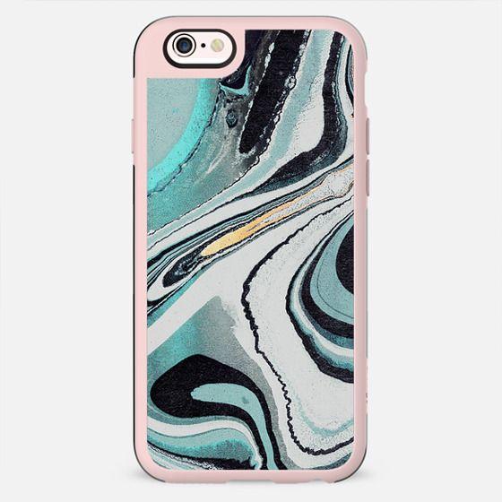 Liquid turquoise marble lines