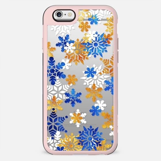 Colourful sparkle snowflakes pattern