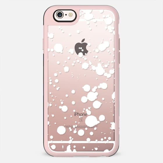 White watercolor splattered snow - New Standard Case