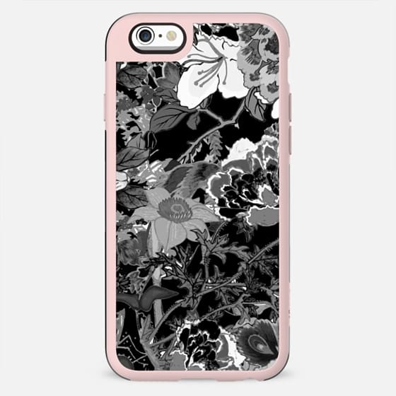 Monochrome oriental flowers illustration - New Standard Case