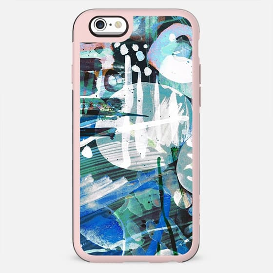 Turquoise watercolor spots - New Standard Case