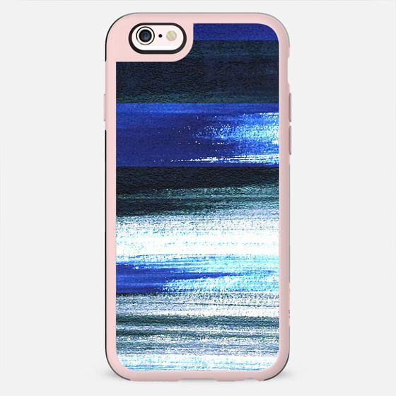Blue black white stripes - New Standard Case