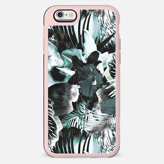 Dark tropical leaves and flowers - New Standard Case