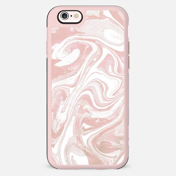 Pink white marble art