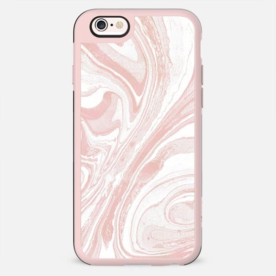 Pink white marble paint