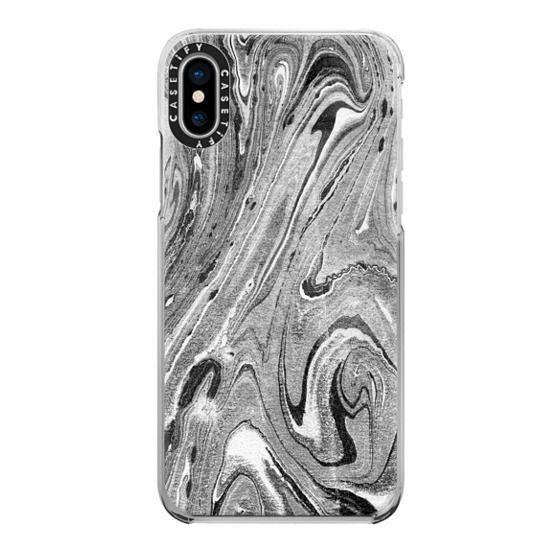 iPhone 7 Plus Cases - Grey marble swirls
