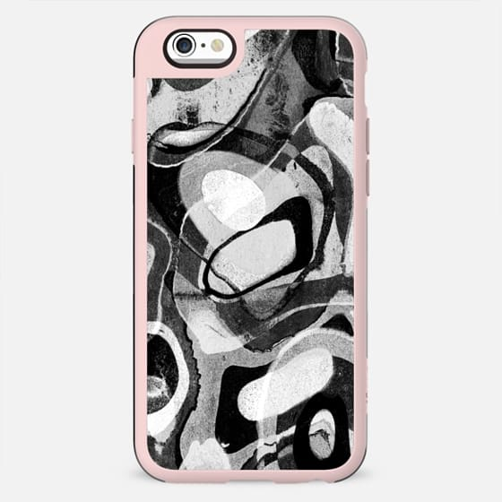 Black and white abstract paint