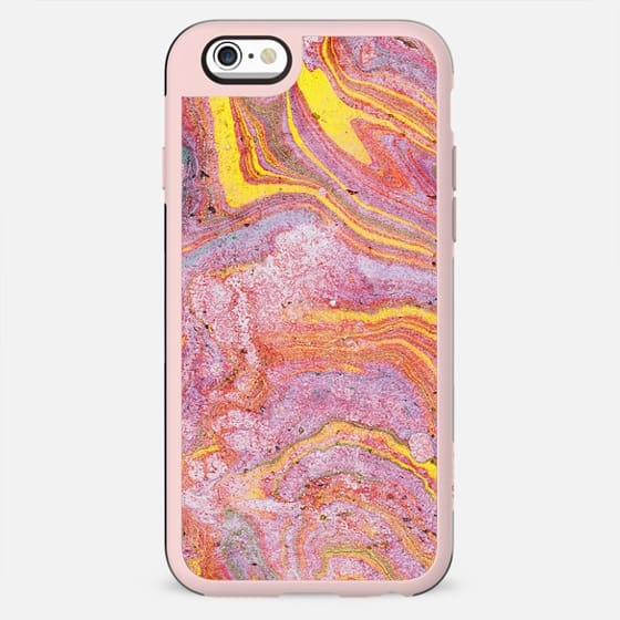 Pink liquid paint marble - New Standard Case