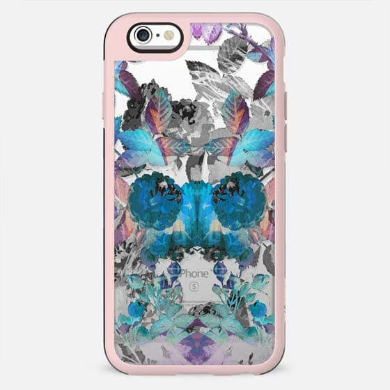 X-ray painted roses clear case - New Standard Case