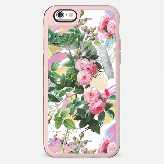 Pink roses garden illustration