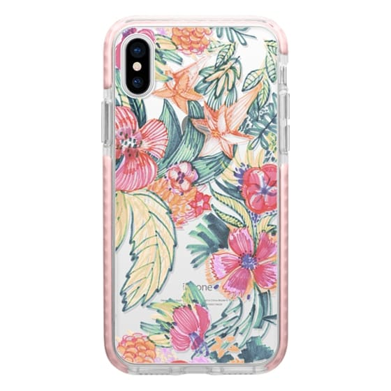 iPhone 6s Cases - Hand sketched pink flowers clear case