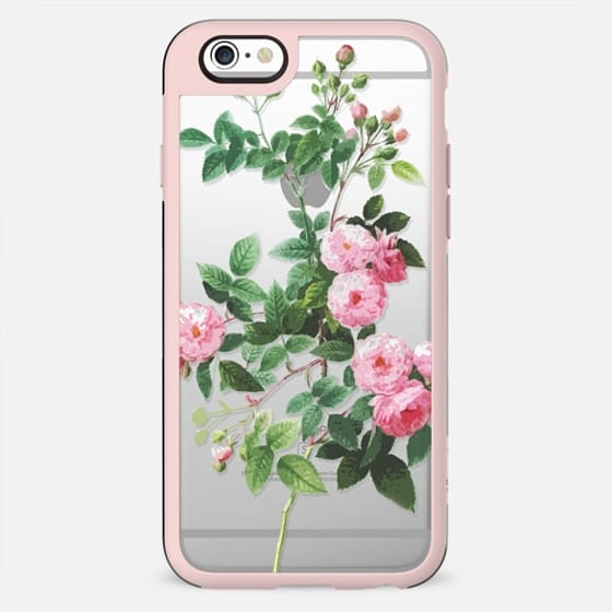 Pink rose botanical clear case - New Standard Case