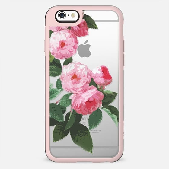 Pink roses minimal clear case - New Standard Case