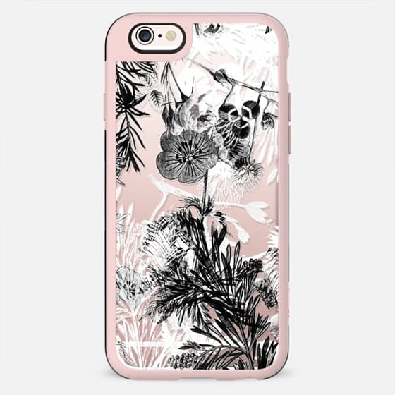 Black and white flowers and plants - New Standard Case