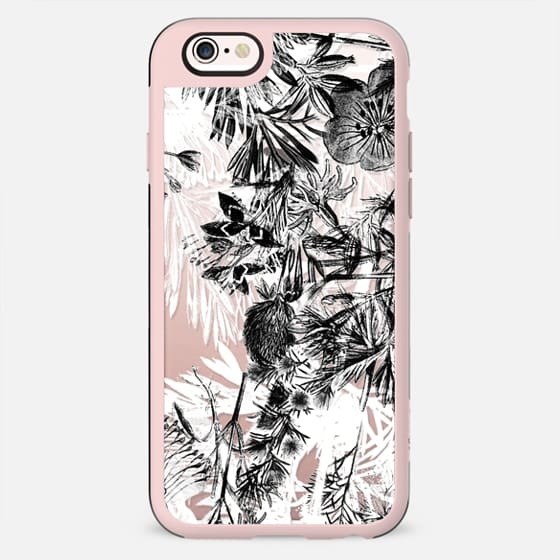 Sketched black and white florals - New Standard Case