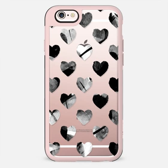 Black and white painted hearts - New Standard Case