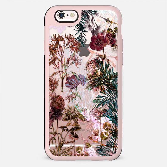 Botanical pink garden illustration