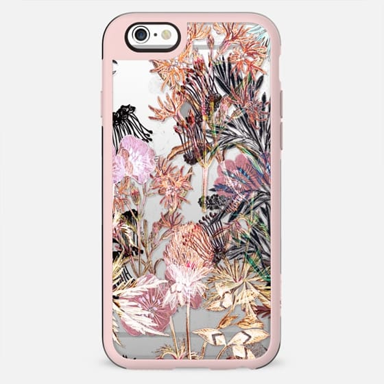 Subtle pastel plants clear case - New Standard Case