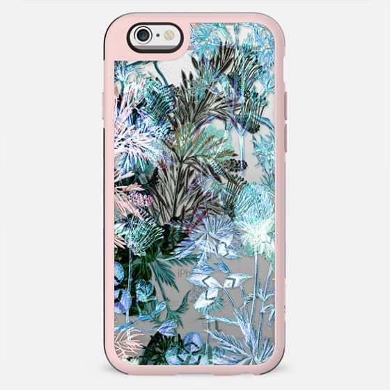 Blue night flowers and foliage - New Standard Case