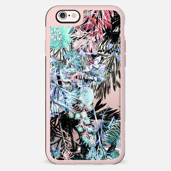 Blue pink night flower garden - New Standard Case