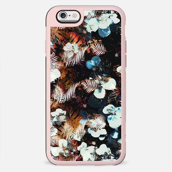X-ray pansy petals and tropical leaves - New Standard Case