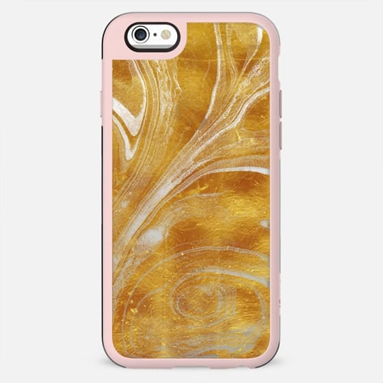Golden foil marble swirl - New Standard Case