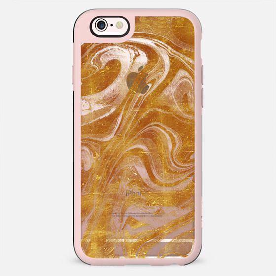 Liquid gold dust marble