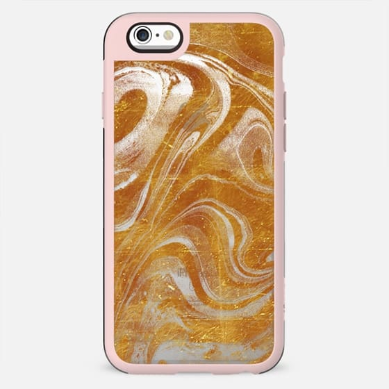 Gold marble dust lines - New Standard Case