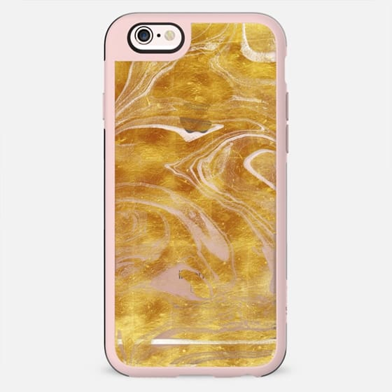 Transparent gold marble art