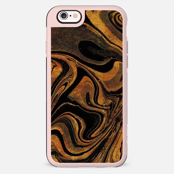 Transparent gold marble art - New Standard Case