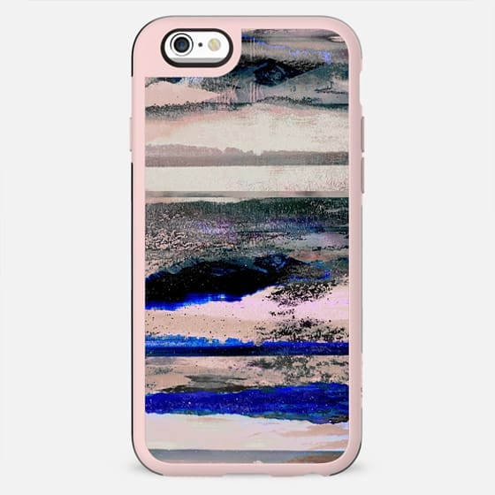 Grunge textured stripes landscape