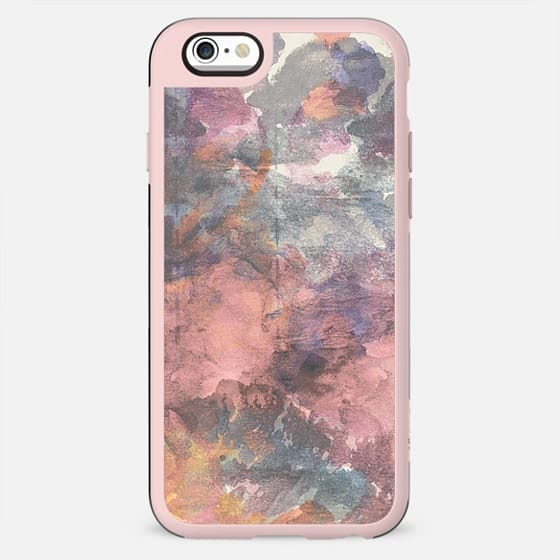 Abstract pink finger painting - New Standard Case