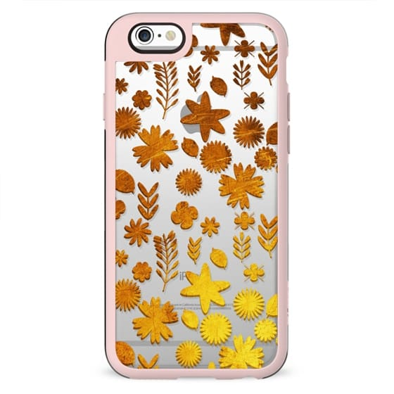 Bright golden flowers clear case