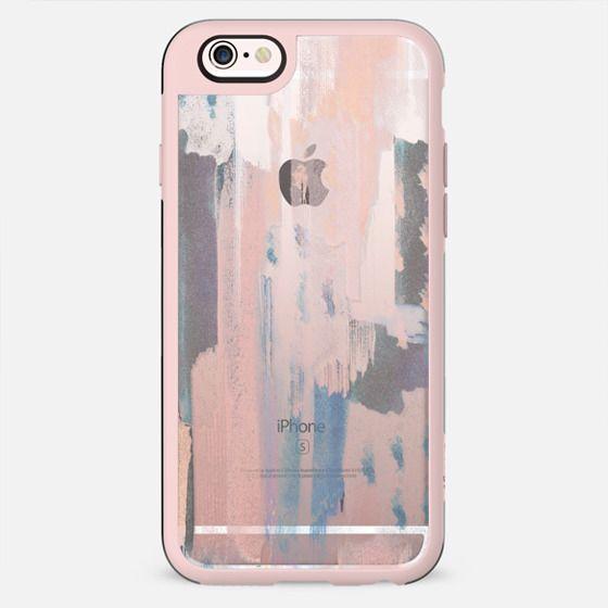 Transparent pastel brushstrokes