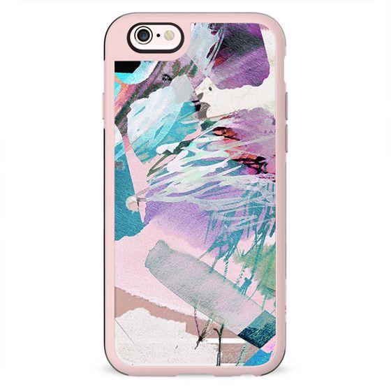 Abstract pastel paint brushstrokes