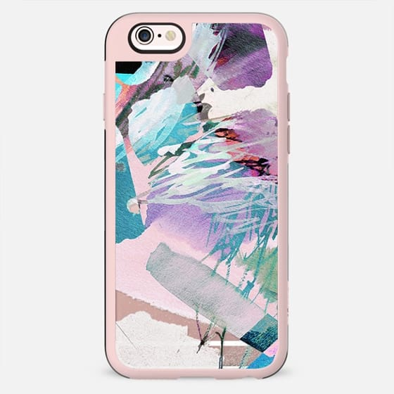 Abstract pastel paint brushstrokes - New Standard Case