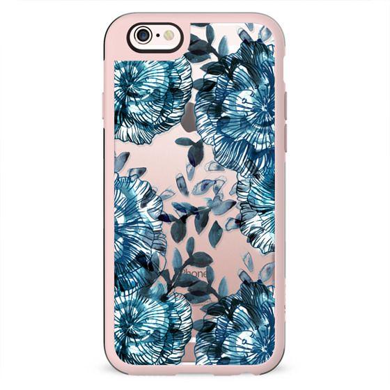 Blue watercolor flower petals
