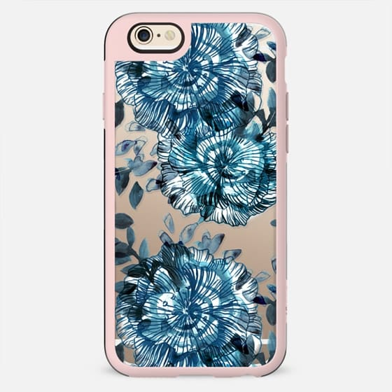 Watercolor blue petals - New Standard Case