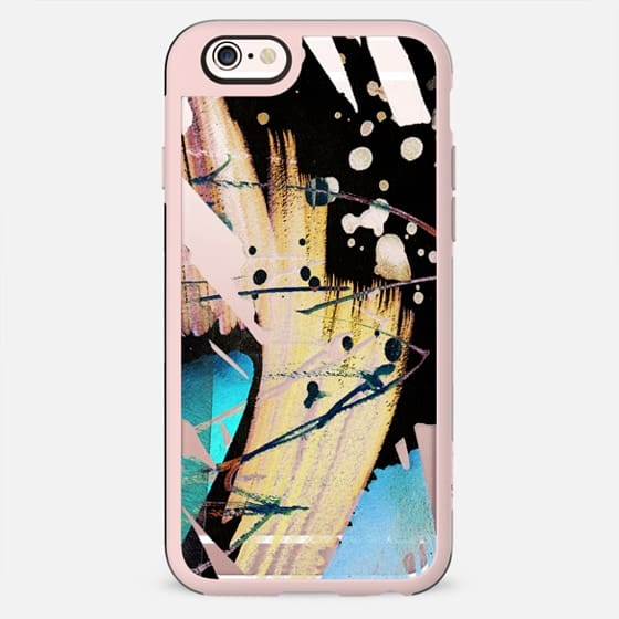 Minimal watercolor splatter clear case