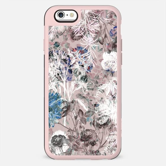 Pink botanical linear art - New Standard Case