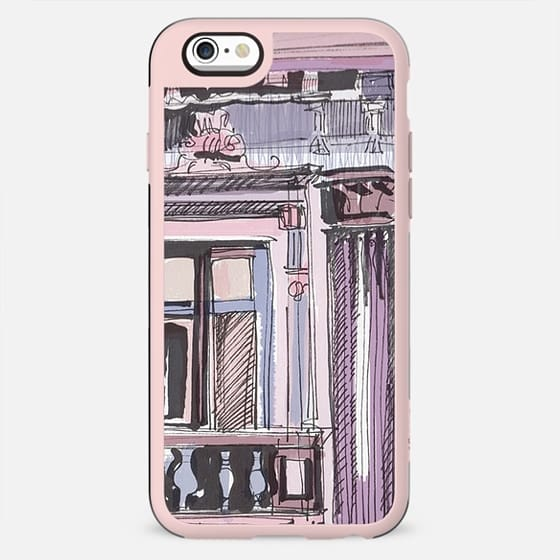 Violet watercolor architectural detail - New Standard Case